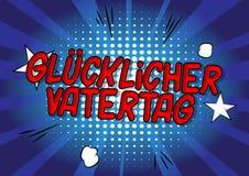 Glucklicher Vatertag faders dag i tysk fotografering för bildbyråer