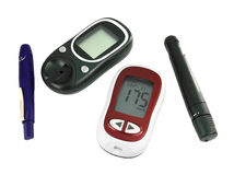 Glucometer for checking blood sugar levels Stock Images