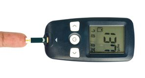 Glucometer. Royalty Free Stock Photos