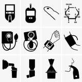 Glucometer, tonometer, inhaler Royalty Free Stock Photography