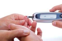 Glucose level blood test Royalty Free Stock Photo