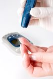 Glucose level blood test Royalty Free Stock Photos