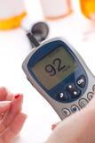 Glucose level blood test Stock Image