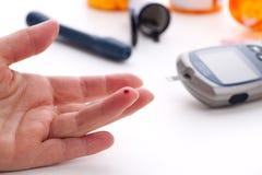 Glucose level blood test Royalty Free Stock Photos