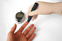 Glucose level blood test Royalty Free Stock Photo