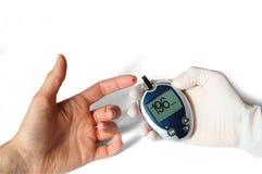 Glucose level blood test Stock Photo