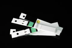 Glucose test strips Royalty Free Stock Images