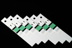 Glucose test strips Stock Photos