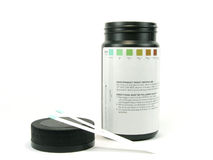 Glucose teststrip Stock Foto