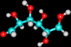 Glucosemodel royalty-vrije illustratie