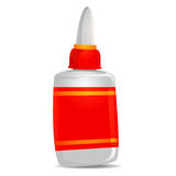 Glue with Blank Label. Vector Illustration of Glue with Blank Label royalty free illustration