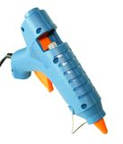 Glue gun. Blue glue gun for hobby Stock Photography