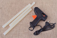 The glue gun for craft and rods Royalty Free Stock Photos
