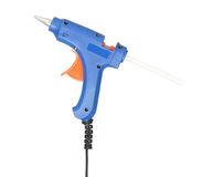 Glue gun. New blue glue gun isolated on white background cutout Stock Image