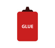 Glue icon illustrated. On a white background Stock Photography