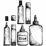 Glue icon set Royalty Free Stock Photography