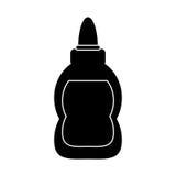 Glue school supplies design pictogram Stock Images