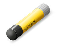 A glue stick. Illustration of a glue stick on a white background Stock Image