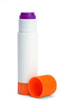 Glue Stick Open. Open Glue Stick and Cap Isolated on White Background stock image