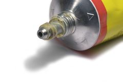 Glue tube detail Stock Photography