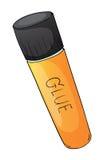 Glue tube. Illustration of glue tube on a white background Royalty Free Stock Photo