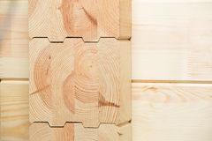 Glued timber construction elements Royalty Free Stock Images