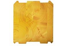 Glued wooden beam stock image