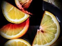 Gluhwein或被仔细考虑的酒用桔子 库存照片