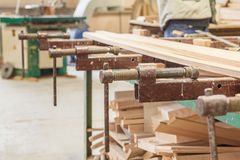 Gluing boards workshop Stock Photos