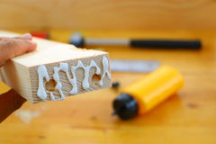 Gluing woodcraft Royalty Free Stock Images