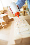 Gluing wooden board Royalty Free Stock Photography
