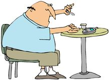 Glukose-Prüfung lizenzfreie abbildung