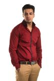 Glum man. Handsome young Indian man with a glum expression Royalty Free Stock Images