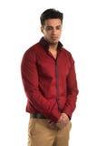 Glum man. Handsome young Indian man with a glum expression Stock Photos