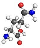 Glutamine molecule Royalty Free Stock Images