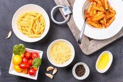 Glutenów składniki dla gotować i Zdrowy jeść co Fotografia Stock