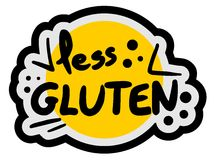 Less gluten Stock Image