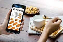 Gluten Celiac choroby Bezpłatny karmowy odżywianie, Zdrowy styl życia c fotografia royalty free