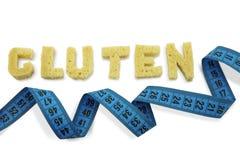 Gluten de la palabra integrado por rebanadas de pan Foto de archivo libre de regalías