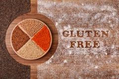 Gluten diety bezpłatny pojęcie z adra i writing w mące obrazy royalty free