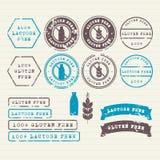 Gluten et timbres sans lactose réglés Photo libre de droits