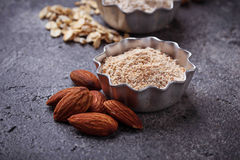 Gluten free almond flour. Selective focus Royalty Free Stock Photography