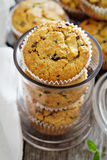 Gluten free almond and oat muffins Royalty Free Stock Photo