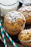 Gluten free almond and oat muffins Stock Photos