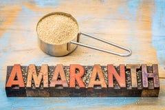Gluten free amaranth grain Royalty Free Stock Images
