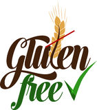 Gluten free artistic message Royalty Free Stock Photography