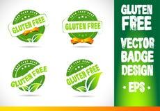 Gluten free Badge Logo Vector Royalty Free Stock Image