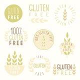 Gluten free badges. Vector hand drawn illustration vector illustration
