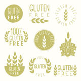 Gluten free badges. Vector hand drawn illustration Royalty Free Stock Images