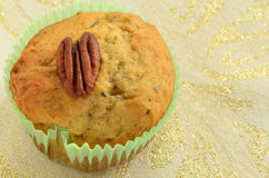 Gluten free banana pecan muffin Royalty Free Stock Photos